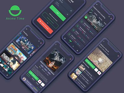 Anime Streaming App Concept popular new dark theme dark ui dark application app design app uidesign minimal trendy uiux ui