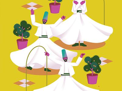 Harmony men arabic kuwait dance turkey dervish harmony