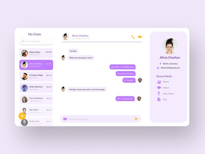 Direct Messaging flatdesign 2020 message chat dailyui uiux ui