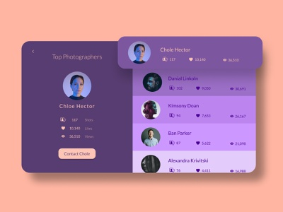 Leaderboard photographers simon purple 2020 dailyui ui