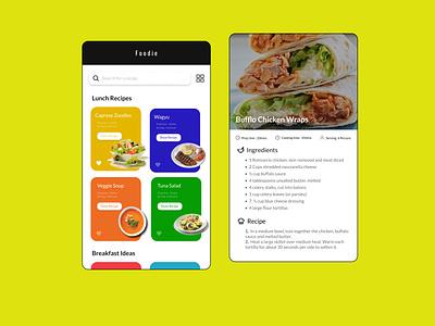 Recipes App uidesign recipes food 2020 2d dailyui ui design uiux ui