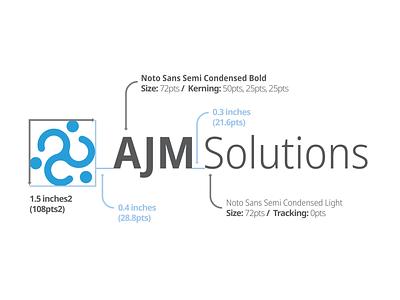 AJM Solutions Logo design logo