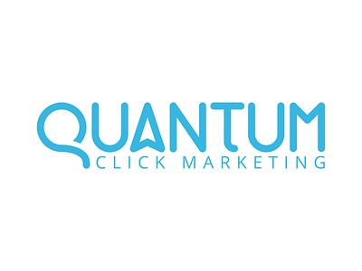 Quantum Click Logo icon typography design logo