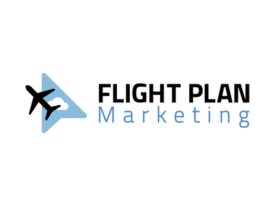 Flight Plan Marketing icon branding typography design logo