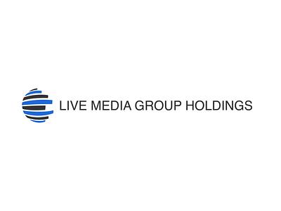 Live Media Group Logo typography icon design logo