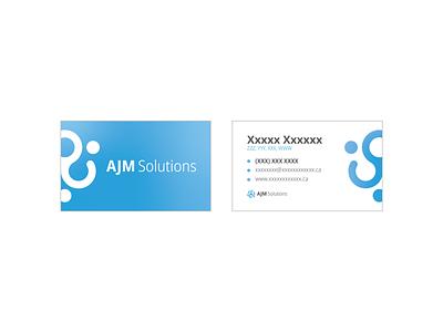 AJM Solutions Business Card business card design