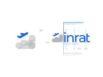 inrat Exam Prep New Logo icon typography design logo