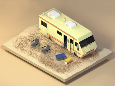 Isometric Breaking Bad RV 3d visual breaking bad blender 2.8 3d art