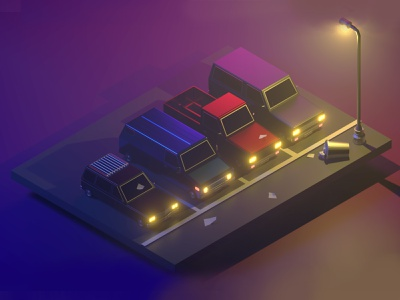 Isometric Vehicles vehicles 3d visual blender 2.8 3d art