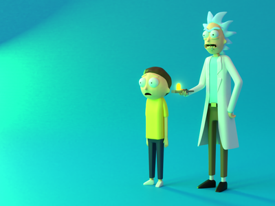 Rick and Morty 3D rick and morty 3d rick and morty character modeling 3d visual blender 2.8 3d art