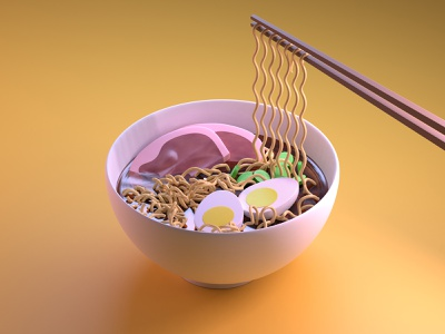 Ramen ramen art ramen 3d visual blender 2.8 3d art