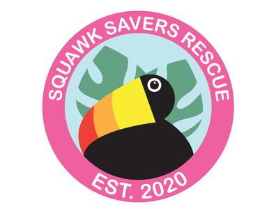 Squawk Savers Rescue Logo branding design branding concept icon branding and identity logo illustration branding