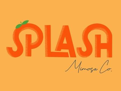 Splash Mimosa Co. Logo Concept #1 branding design branding concept branding and identity logo branding