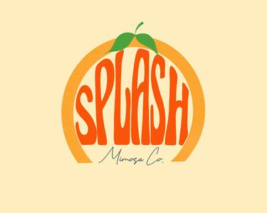Splash Mimosa Co. Logo Concept #2 logo icon branding design branding concept branding and identity branding