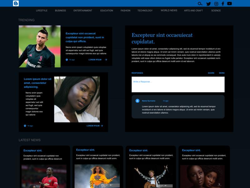 BLOGGER blog design blog dailyui inspiration design uiux ux ui