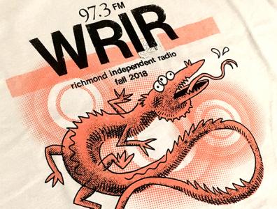 WRIR 97.3 Fund Drive T-Shirt Design typography drawing photoshop collage fashion t-shirt graphic design cartoon illustration