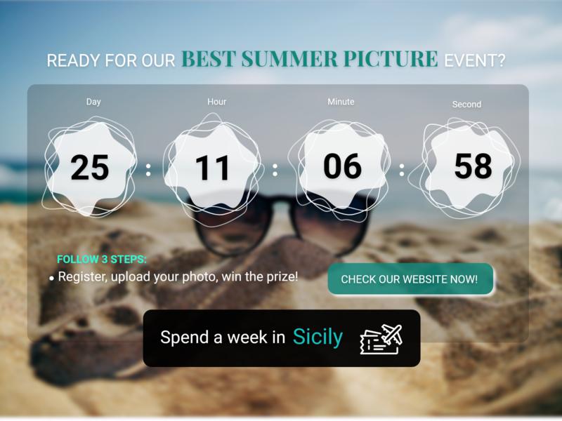 Daily UI #014 — Countdown Timer adobe xd