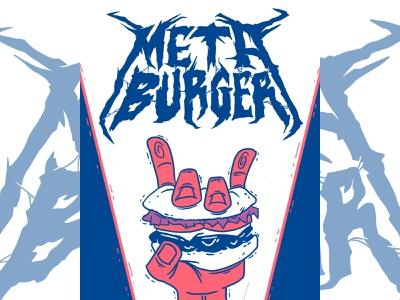 Meta Burger food art vegan food food handlettering metal logo heavy metal art ipad pro art digital ink ipad procreate illustration digital illustration metal music heavy metal vegan vegan art
