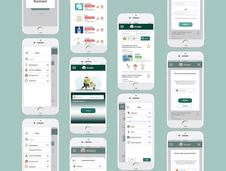 InSupply | UX/UI Design Case Study product design uxdesign uidesgin covid-19 design app branding ui ux