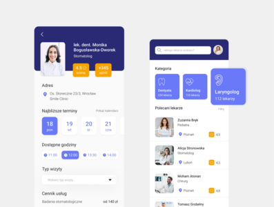 The Dentist App dental ux design uxui ui ux mobile design app