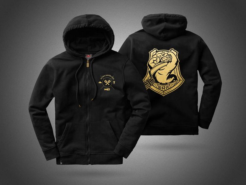 URF Ultra Rapid Fire Hoodie limited edition urf riotgames apparel design logo design apparel riotgamesmerch leagueoflegends