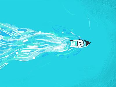 Little Speedboat water ocean speedboat