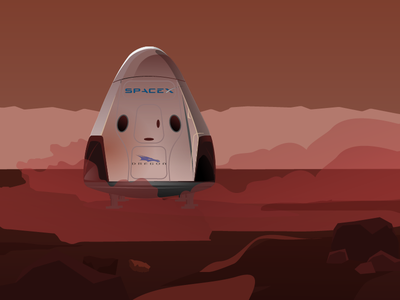 Abandoned Red Dragon mars red dragon