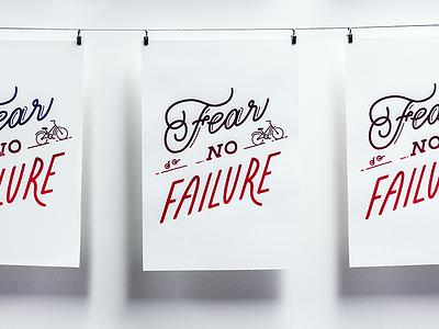 Fear No Failure failure bike poster