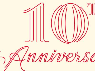 Column Five Anniversary script lettering