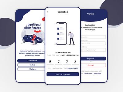 Online Car Dealer illustration app mobile verify login otp verification car design uiux ui