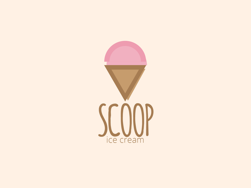 Daily Logo Challenge Day 27 - Ice Cream Company graphic design ice cream ice cream logo ice cream cone geometric colorful minimal dailylogo logo design dailylogochallenge