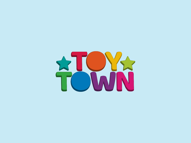 Daily Logo Design Challenge Day 49 - Toy Store wordmark logo secondary colors primary colors toy store toy store logo 3d logo logodesign graphic design logo design logo design dailylogo dailylogochallenge