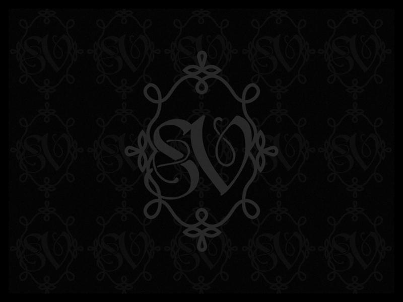 SV Monogram illustrator art black monochrome monogram damask victorian gothic illustration design dribbbleweeklywarmup