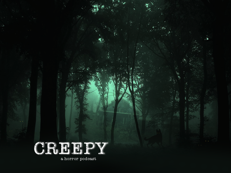 Creepy Horror Podcast Cover weekly challenge weekly warm-up weeklywarmup foggy fog forest horror art horror creepy photoshop graphic design