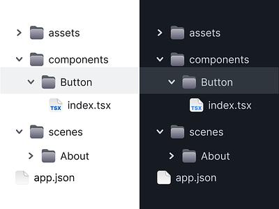 File tree files ui icon