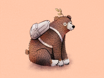 Mochiloso character bears oso bear design illustration