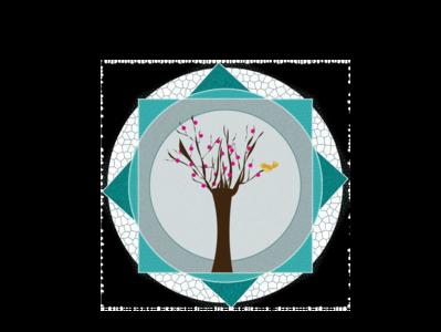 Tree and Bird  Textured Vector design vector illustration