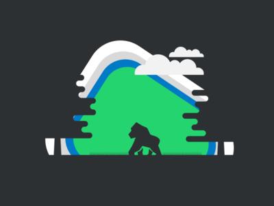 Gorila art illustrator vector icon logo illustration design