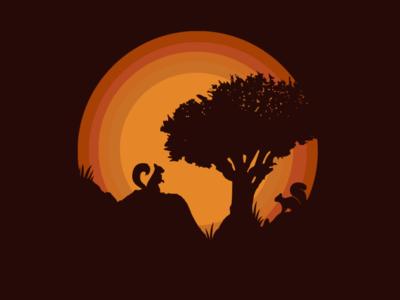 Sunny art illustrator vector icon logo illustration design