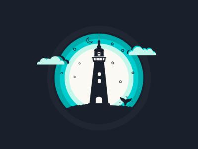 Lighthouse vector artwork illustration