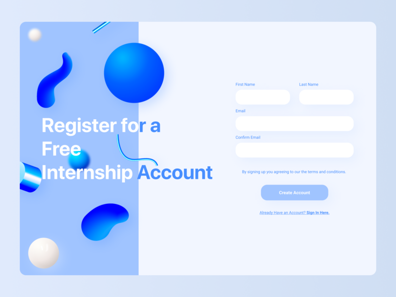 Sign up web page uidesign webui ui 3d web design website blue sign in sign up signup web