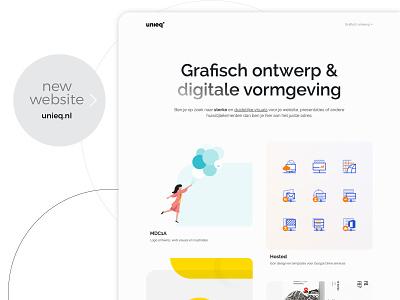 New website for Unieq agency website identitydesign branding logodesign graphicdesign web design webdesign website