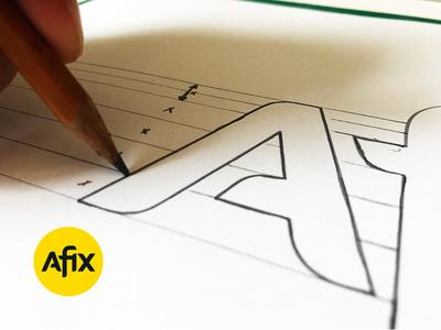 Afix - Logo design font logotype logodesign mark branding logo