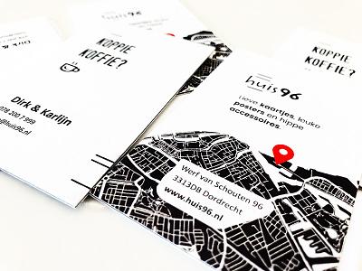 Huis96 - Business cards triplex white black design cards business
