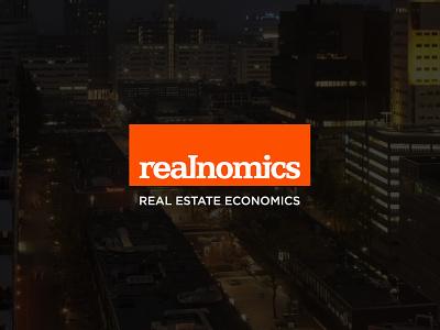 Realnomics - Logo design font logotype logodesign mark branding logo