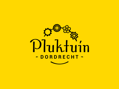 Pluktuin Dordrecht - Logo design yellow flower dutch design dordrecht logodesigner logodesign logo