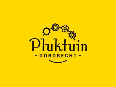 Pluktuin Dordrecht - Logo design yellow flower dutch design dordrecht logodesigner logodesign logo