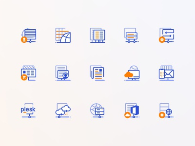 Icons for a hosting company hosting webhosting icon design icon set icons