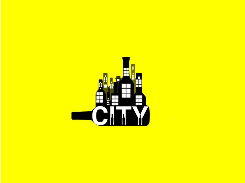 logo design typography uniquelogo modernlogo illustrator branding minimal logo graphic design logodesign drinks logo city vodka city creative logo