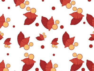 Sweet Potato sweet potato pattern pattern design illustration design